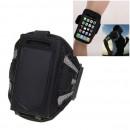 Pouzdro na mobilní telefon se suchým zipem, na ruku, sportovní, barva černá XXL